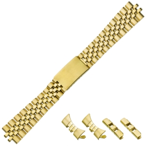 Jubilee Watch Bracelet 'type Rolex' Stainless Steel Gold 20mm
