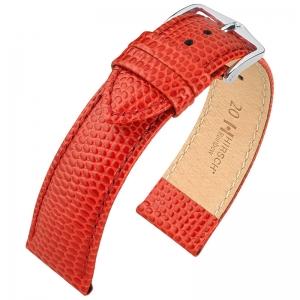 Hirsch Rainbow Watch Band Lizardgrain Red