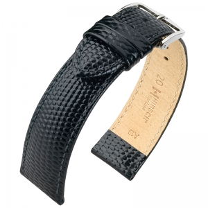 Hirsch Rainbow Watch Band Lizardgrain Black
