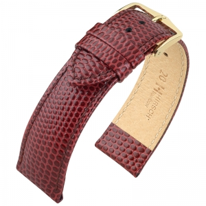 Hirsch Rainbow Watch Band Lizardgrain Burgundy
