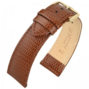 Hirsch Rainbow Watch Band Lizardgrain Light Brown