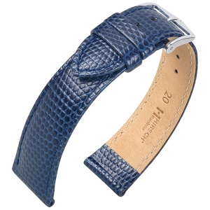 Hirsch Rainbow Watch Band Lizardgrain Blue