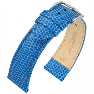 Hirsch Rainbow Watch Band Lizardgrain Light Blue
