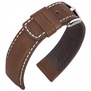 Hirsch Mariner Watch Strap 100m Waterproof Dark Brown