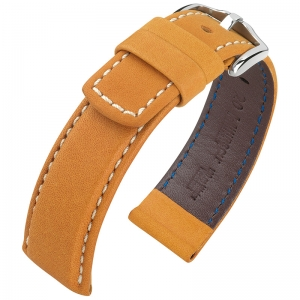 Hirsch Mariner Watch Strap 100m Waterproof Honey