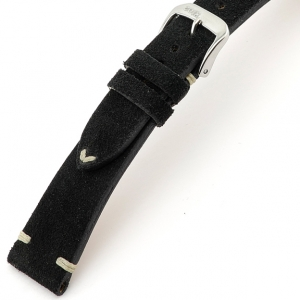 Rios Hudson Watch Strap Suede Black