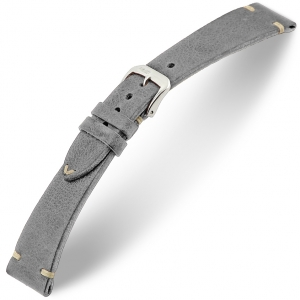 Rios Bedford Watch Strap Vintage Leather Gray