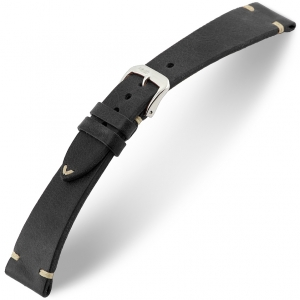 Rios Bedford Watch Strap Vintage Leather Black