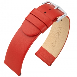 Hirsch Scandic Watch Band Calf Skin Red