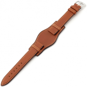 Rios Tula Bund Watch Strap Russian Leather Cognac