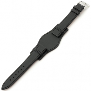 Rios Tula Bund Watch Strap Russian Leather Black