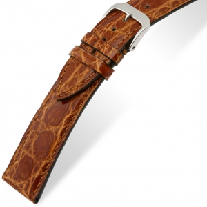 Rios Lord Watch Strap Crocodile Skin Honey