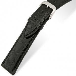 Rios Lord Watch Strap Crocodile Skin Black