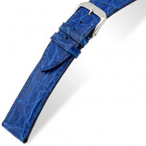 Rios Lord Watch Strap Crocodile Skin Royal Blue
