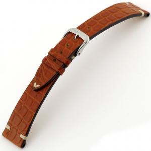 Rios Royal Watch Strap Alligator Skin Mahogany