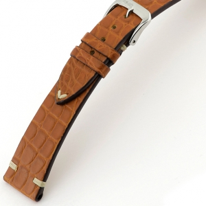 Rios Royal Watch Strap Alligator Skin Cognac