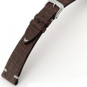 Rios Royal Watch Strap Alligator Skin Mocha