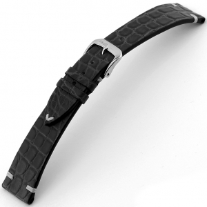 Rios Royal Watch Strap Alligator Skin Black