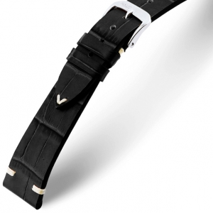 Rios Hollywood Watch Strap Cowhide Black