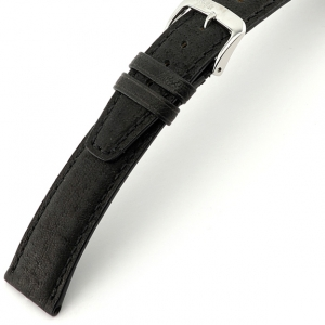 Rios Tobacco Watch Strap Pigskin Black