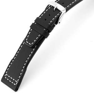 Rios Blizzard Watch Strap for IWC Calf Skin Black