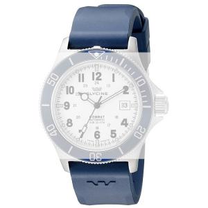 Glycine Combat Sub 3863 Watch Strap Blue Rubber - 22mm