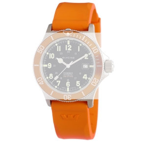 Glycine Combat Sub 3863 Watch Strap Orange Rubber - 22mm