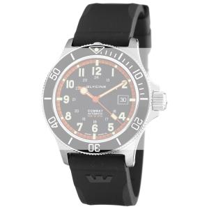 Glycine Combat Sub 3863 Watch Strap Black Rubber - 22mm