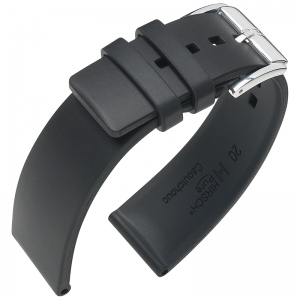 Hirsch Pure Watch Band Caoutchouc Black