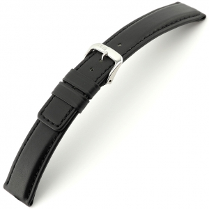 Rios Solid Watch Strap Cowhide Black