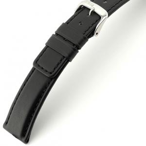 Rios Solid Watch Strap Cowhide Black