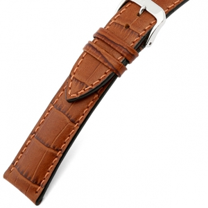 Rios Louisiana Alligator Watch Strap Cowhide Cognac
