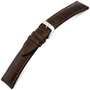 Rios Louisiana Alligator Watch Strap Cowhide Brown