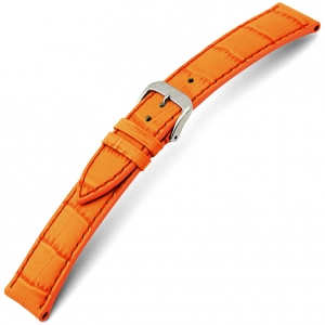 Rios Louisiana Alligator Watch Strap Cowhide Orange