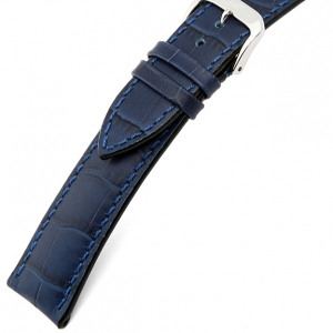 Rios Louisiana Alligator Watch Strap Cowhide Blue