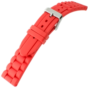 Hirsch Jelly Rubber Chain Watch Strap Red