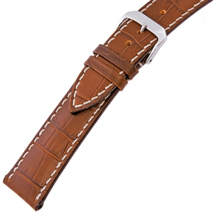Rios New Orleans Alligator Watch Strap Cowhide Cognac