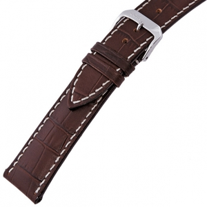 Rios New Orleans Alligator Watch Strap Cowhide Brown