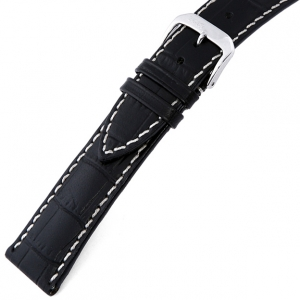Rios New Orleans Alligator Watch Strap Cowhide Black