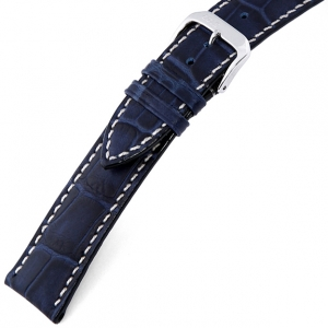 Rios New Orleans Alligator Watch Strap Cowhide Blue