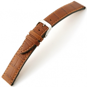 Rios Orlando Alligator Watch Strap Cowhide Cognac