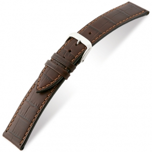 Rios Orlando Alligator Watch Strap Cowhide Brown