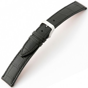 Rios Orlando Alligator Watch Strap Cowhide Black
