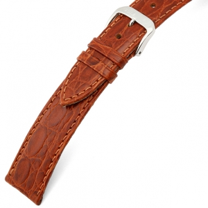 Rios Brazil Crocodile Watch Strap Cowhide Cognac