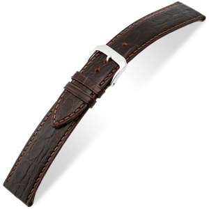 Rios Brazil Crocodile Watch Strap Cowhide Brown