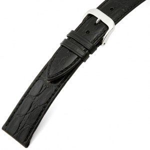 Rios Brazil Crocodile Watch Strap Cowhide Black