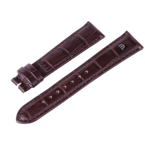 Maurice Lacroix Watch Strap Louisiana Croco-Calf Brown