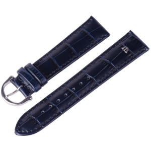 Maurice Lacroix Watch Strap Louisiana Croco-Calf Blue