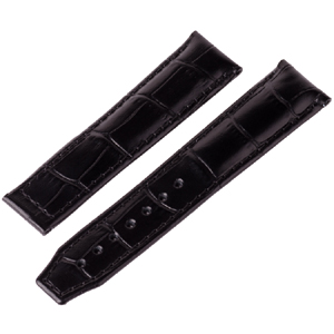 Maurice Lacroix Pontos Watch Strap for Folding Clasp Louisiana Croco-Calf Black 20/18