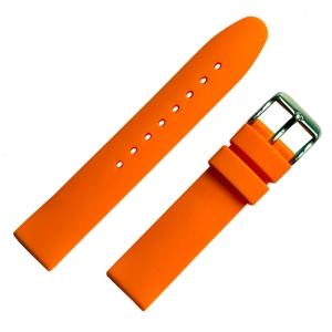 Orange Rubber Watch Strap Smooth 18mm